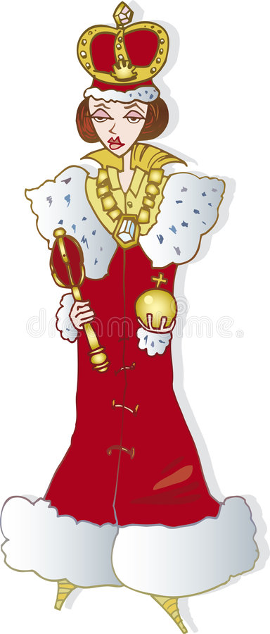 drottningkvinna stock illustrationer