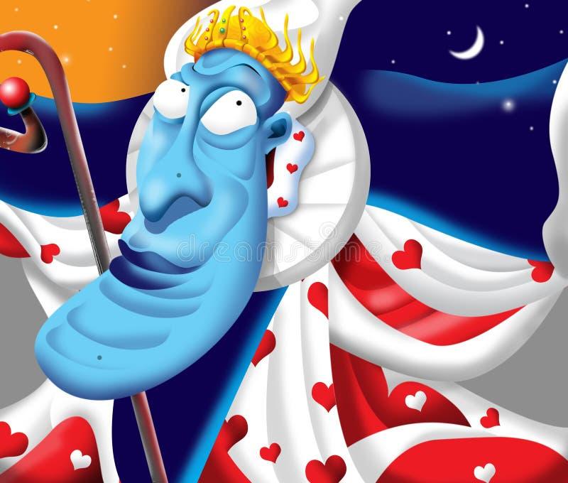 drottningred stock illustrationer
