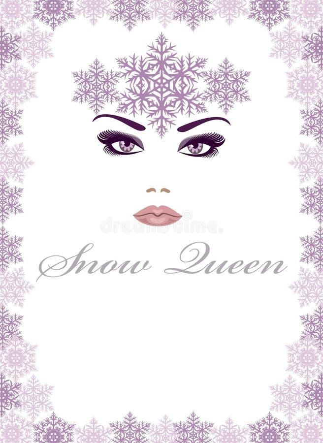 drottningsnow royaltyfri illustrationer