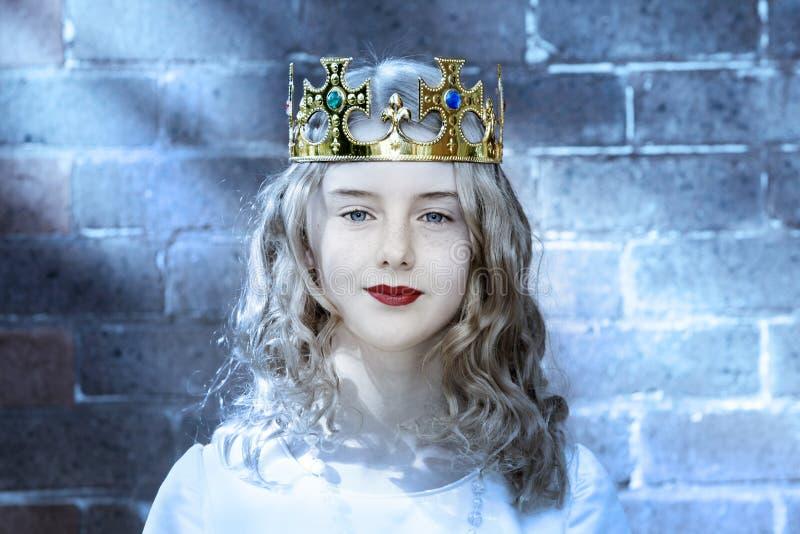 drottningwhite royaltyfria bilder