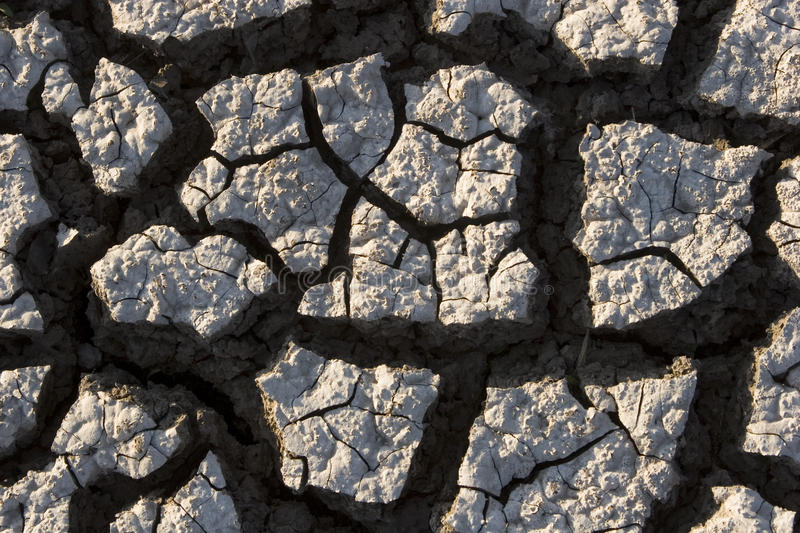 Drought. Close up of earth parched by prolonged drought royalty free stock images