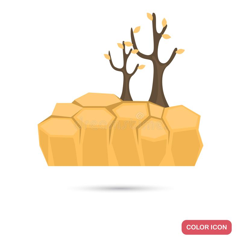 Drought color flat icon. For web and mobile design royalty free illustration