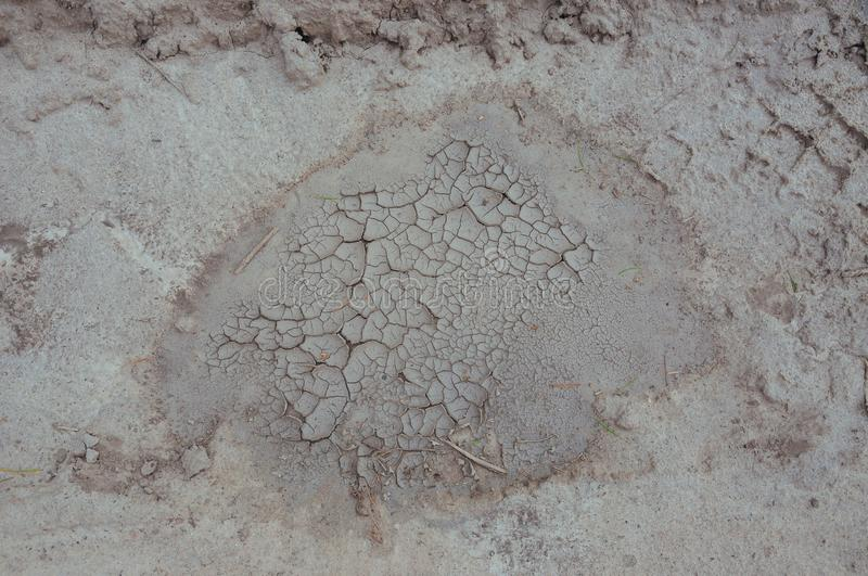 Drought, the ground cracks, no hot water, lack of moisture. Cracked ground. Drought, the ground cracks, no hot water, lack of moisture. Dried and Cracked ground royalty free stock photography