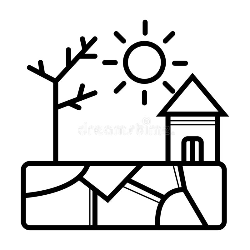 Drought icon stock illustration