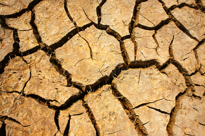 Drought land, climate change, hot summer stock photo