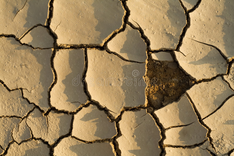 The drought puzzle stock image