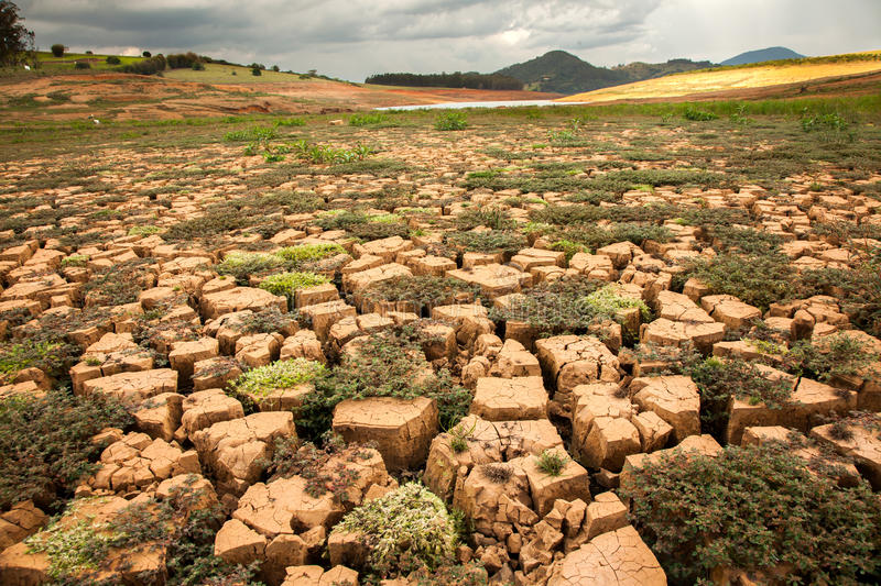 Drought soil. In brazilian dam royalty free stock images