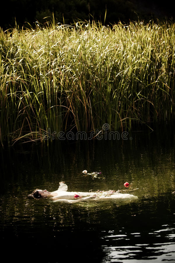 Drown woman royalty free stock images
