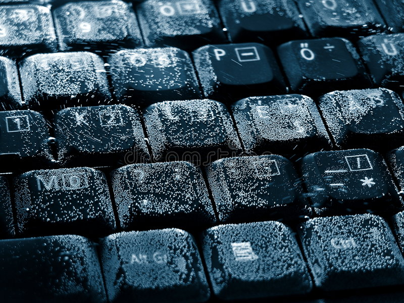 Drowned Keyboard royalty free stock image