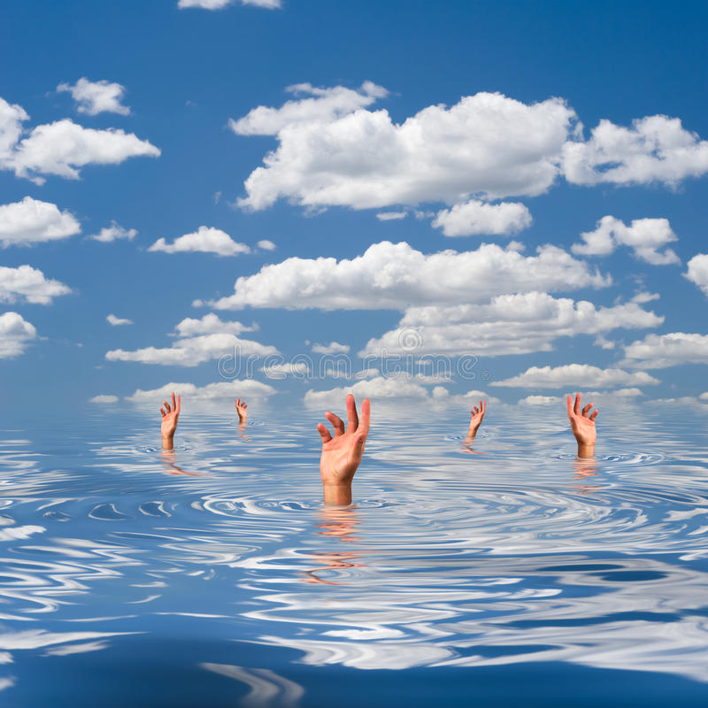 Drowning royalty free stock images