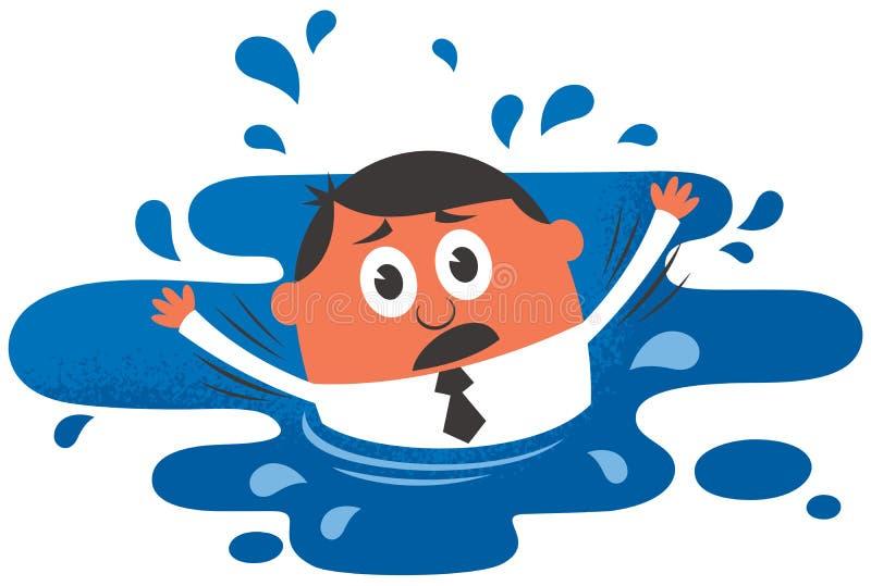 drowning ilustración del vector