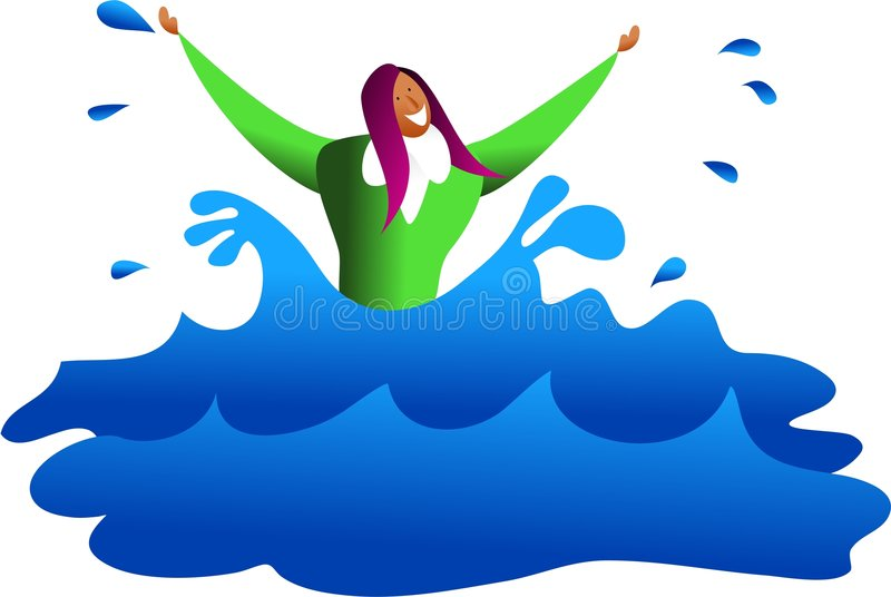Drowning business stock illustration