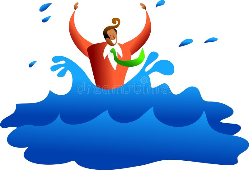 Download Drowning Business Stock Image - Image: 1724241