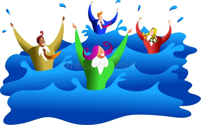 Download Drowning Business Royalty Free Stock Image - Image: 1724656