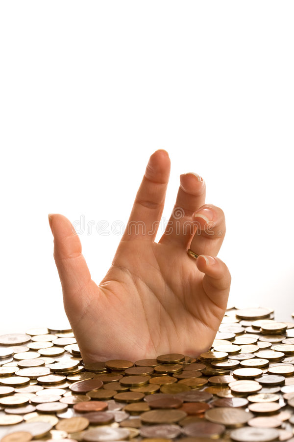 Download Drowning in debt concept stock image. Image of hand, loan - 9008951