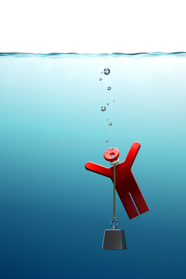 Drowning man royalty free stock photography