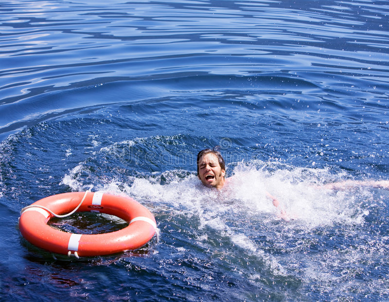 Drowning Man royalty free stock photos