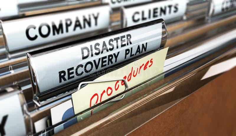 DRP, plano de recuperação de desastre ilustração stock