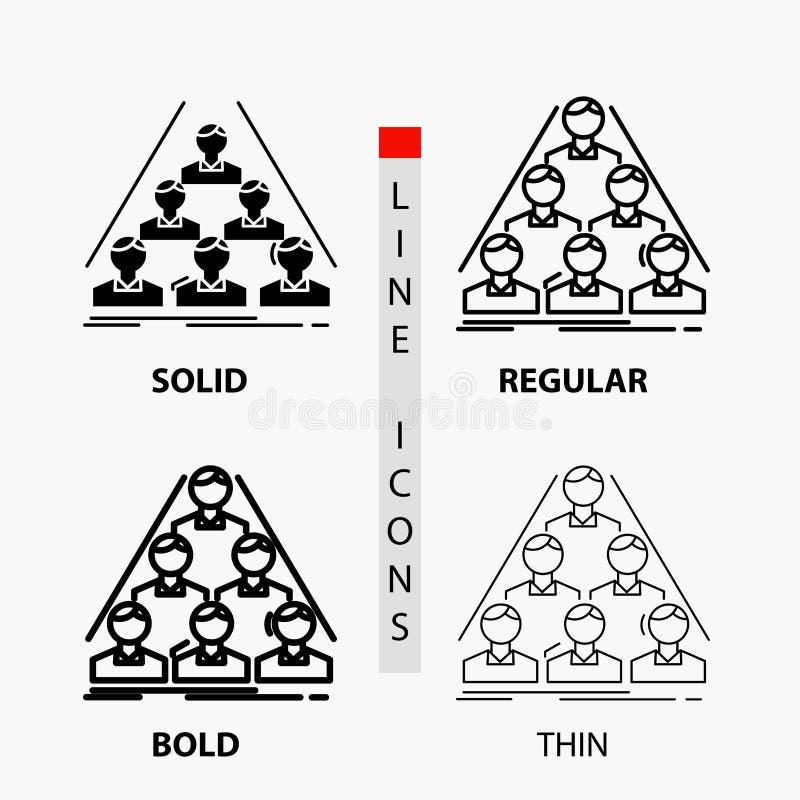 drużyna, budowa, struktura, biznes, spotyka ikonę w Cienkim, Miarowa, Śmiała linia, i glif Projektuje r?wnie? zwr?ci? corel ilust royalty ilustracja