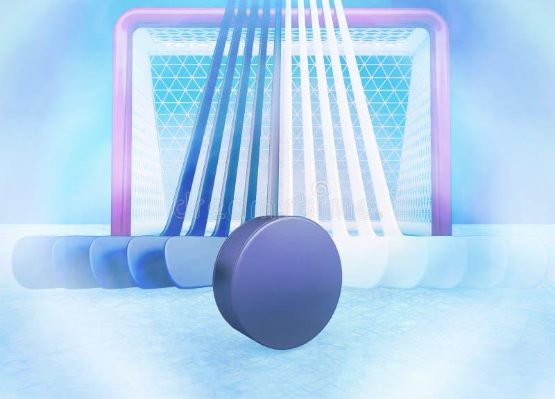 Drużyna hokejowa ilustracja wektor