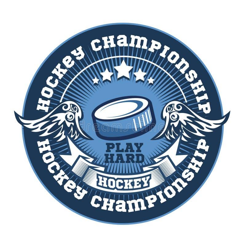 Drużyna hokejowa loga szablon Emblemat, logotyp ilustracji