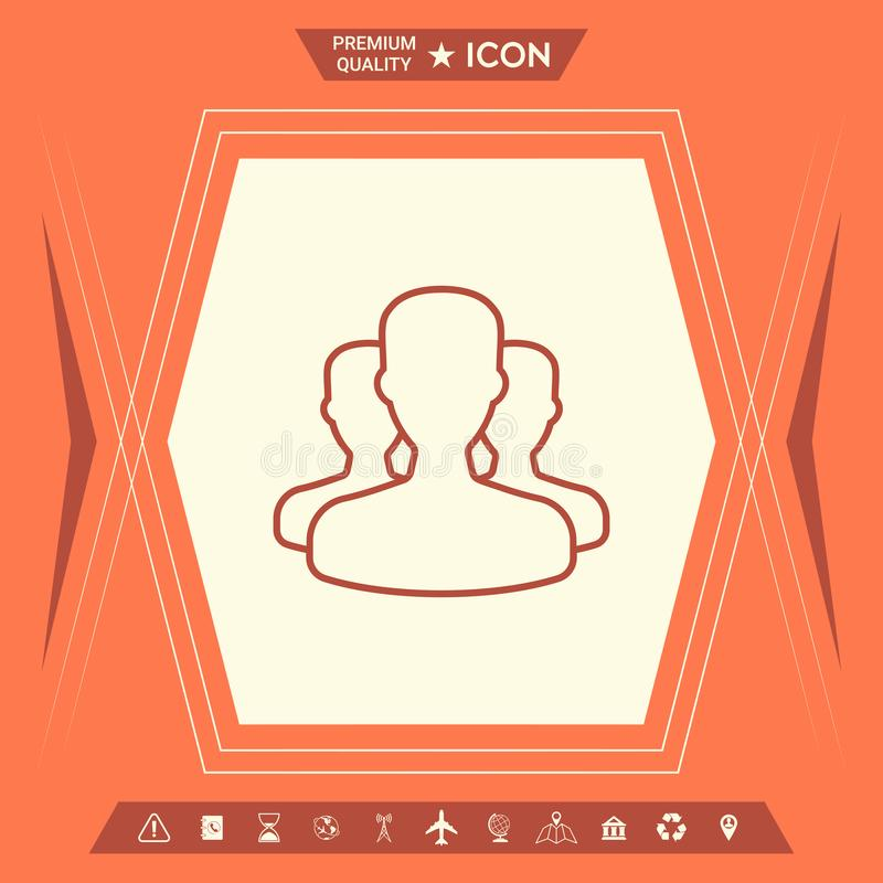 Drużyna - kreskowa ikona royalty ilustracja