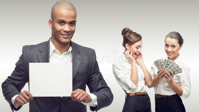Drużyna młodzi pomyślni ludzie biznesu obrazy stock