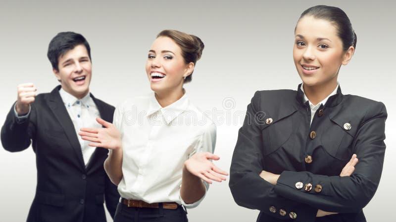 Drużyna młodzi pomyślni ludzie biznesu zdjęcie royalty free