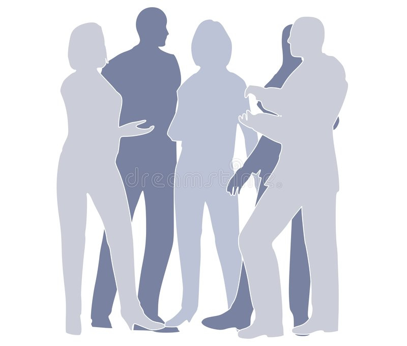 drużyna niebieska współpracy gospodarczej ilustracji