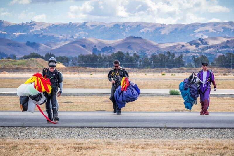 Drużyna parachutists zdjęcie royalty free