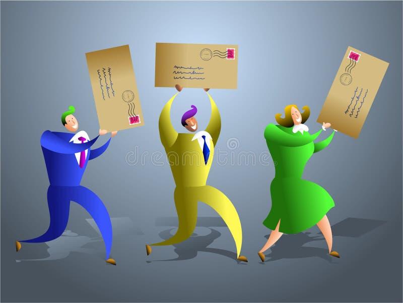 drużyna pocztę royalty ilustracja