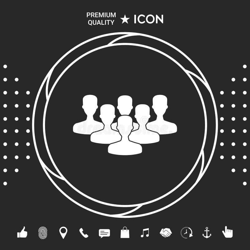 Drużyna profesjonaliści, ikona Graficzni elementy dla twój designt royalty ilustracja