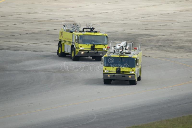 drużyna przeciwpożarowa portów lotniczych fotografia stock