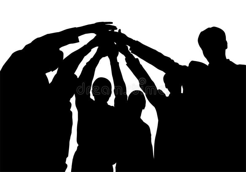 drużyna sylwetki jednostek gospodarczych