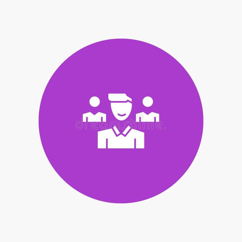 Drużyna, użytkownik, kierownik, oddział ilustracja wektor