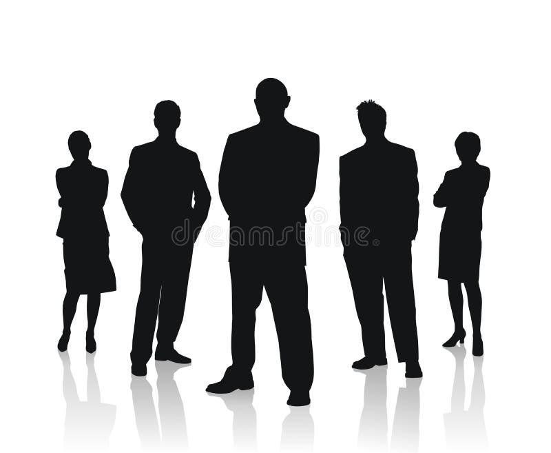 drużyna wektorów biznesowi ilustracyjni ludzie