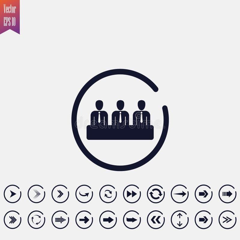 drużynowa ikona, wektorowa ilustracja Płaska ikona arrowed ilustracji