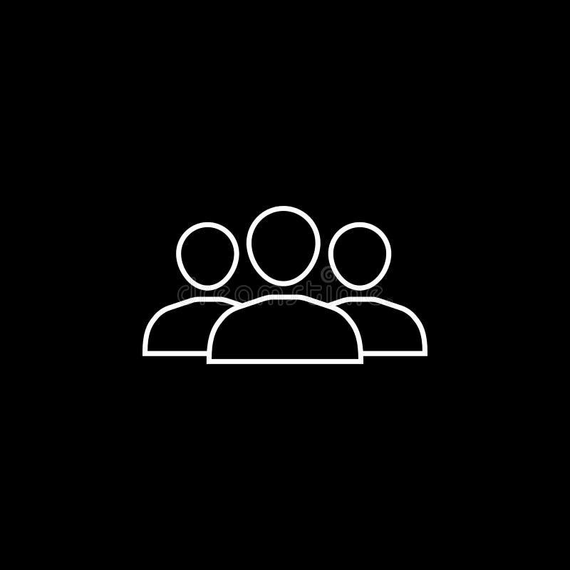 Drużynowa kreskowa ikona ilustracji