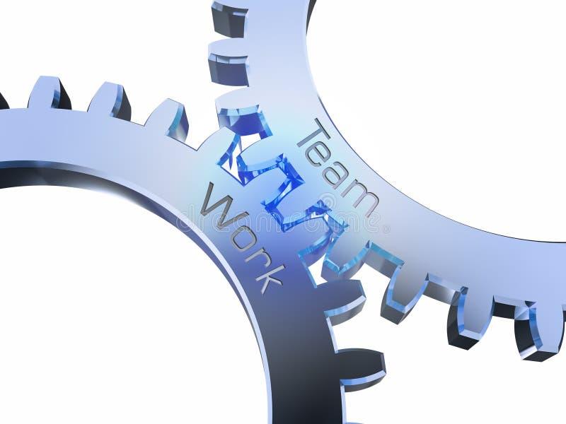 Drużynowa praca na gearwheels royalty ilustracja