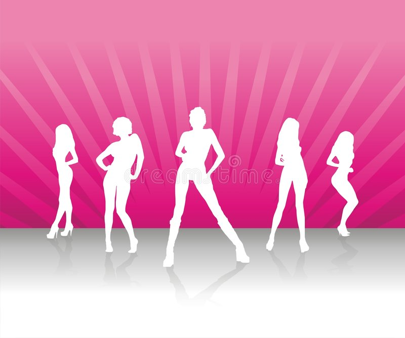 drużynowe kobiety ilustracja wektor