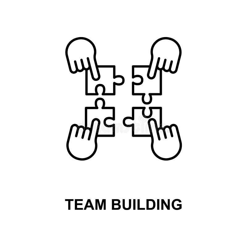 drużynowego budynku linii ikona ilustracji