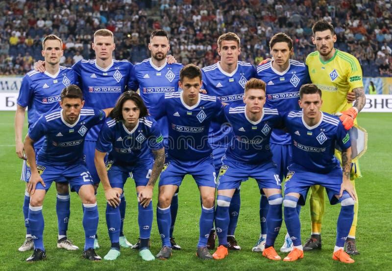 Drużynowy fotografia graczów FC dynamo Kyiv obraz stock