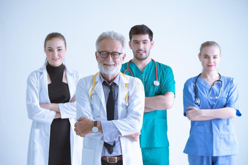 Drużynowy pracownik Doktorska pielęgniarka w szpitalu fotografia royalty free