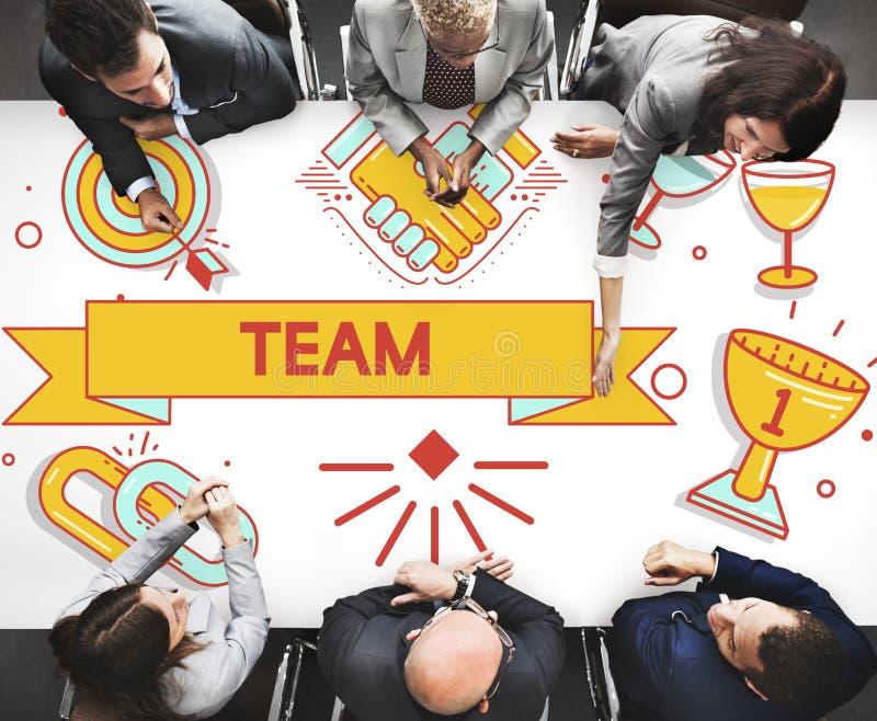 Drużynowy pracy zespołowej partnerstwa współpraca Concpet zdjęcie stock