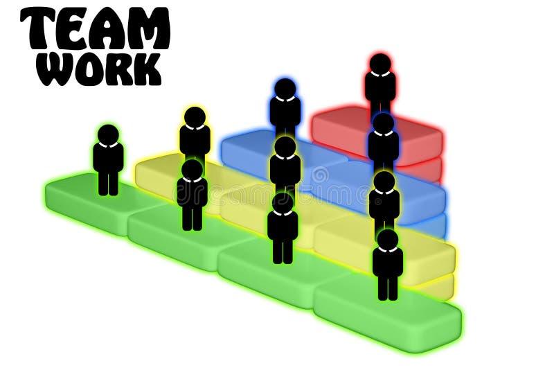Drużynowy pracy zespołowej więzi współpracy pojęcie royalty ilustracja