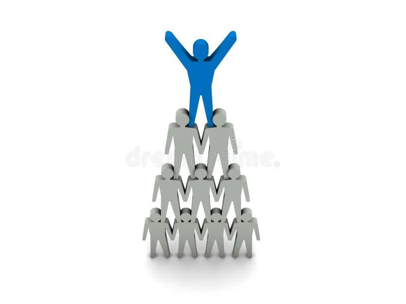 Drużynowy sukces. Przywódctwo. ilustracji