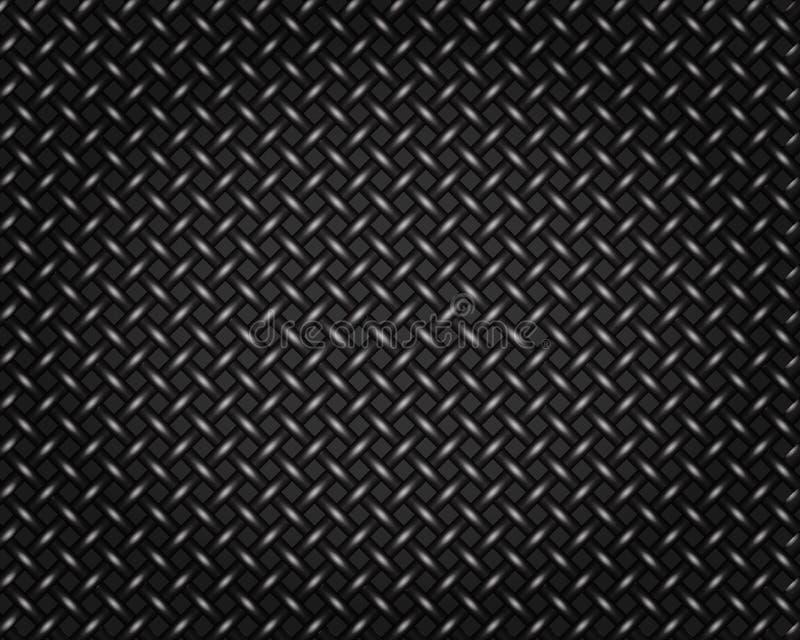 Drucianej siatki ogrodzenia metalu wzoru tło ilustracja wektor