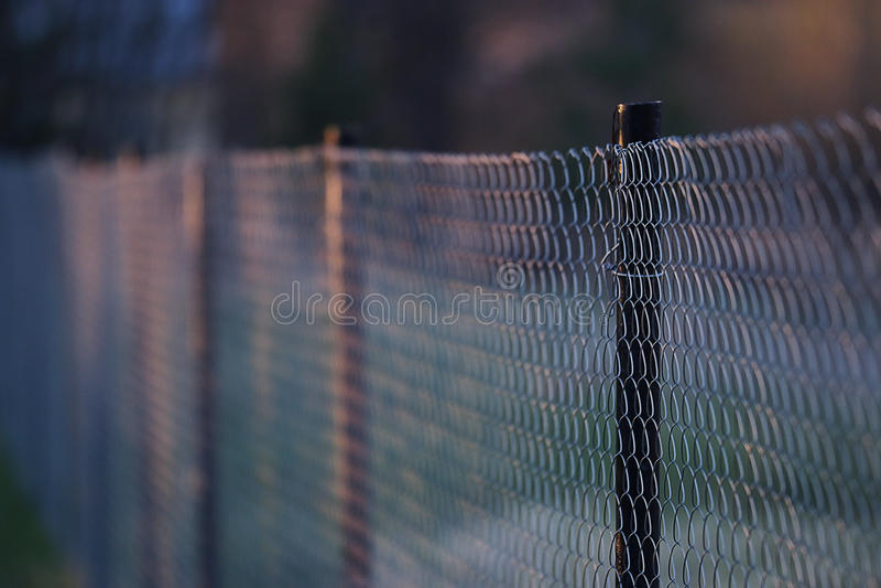 Druciany metalu siatkarstwa ogrodzenie zdjęcie royalty free