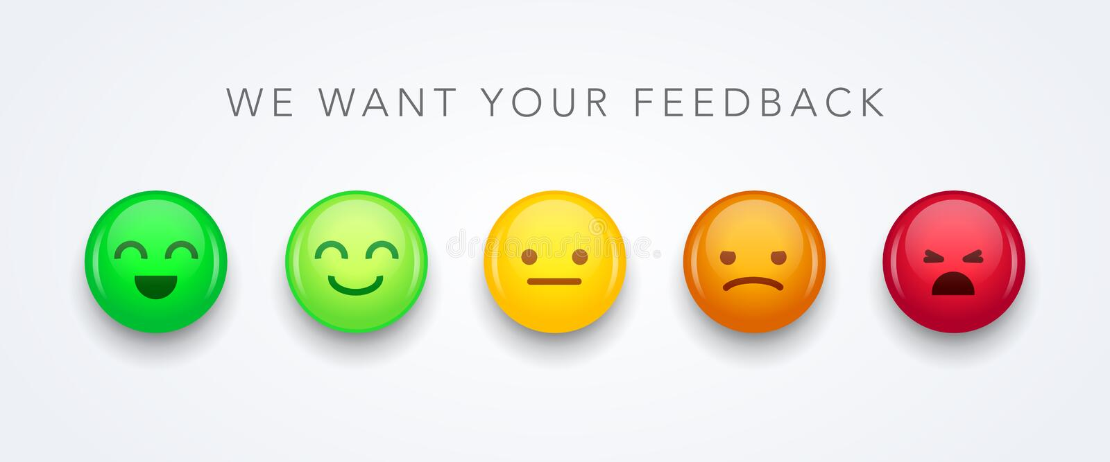 Vector illustration user experience feedback concept different mood smiley emoticons emoji icon positive, neutral and negative. Vector illustration cool user royalty free illustration