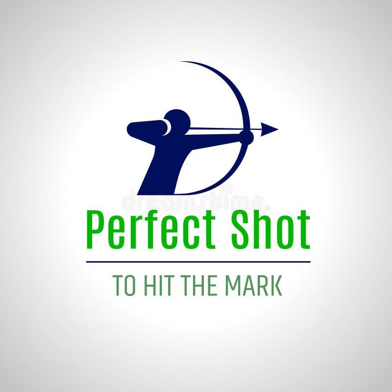 Archer logo, bowman silhouette vector illustration